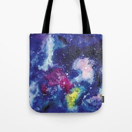 Galaxy Watercolor Tote Bag
