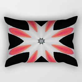 Simple Red and Black Flower Abstract Design Rectangular Pillow