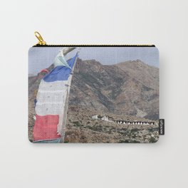 Himalayan Landscape with Tibetan prayer flag Carry-All Pouch