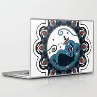 the whale Laptop & iPad Skins featuring whale by gazonula
