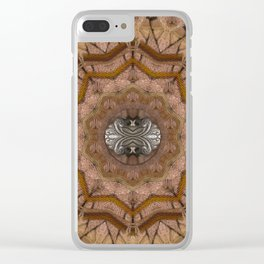 peace on earth in leather Clear iPhone Case
