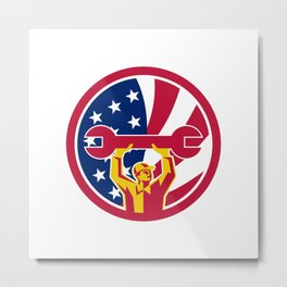 American Mechanic USA Jack Flag Icon Metal Print
