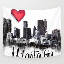 I love Atlanta Wall Tapestry