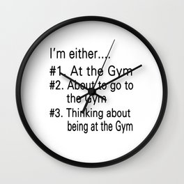 The Gym Wall Clock