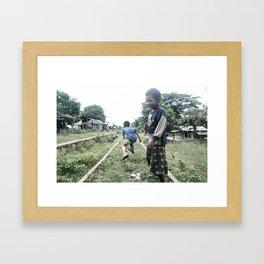 FOLLOW THE TRAIN Framed Art Print