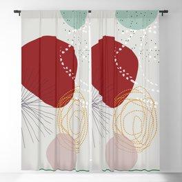 modern abstract VI Blackout Curtain