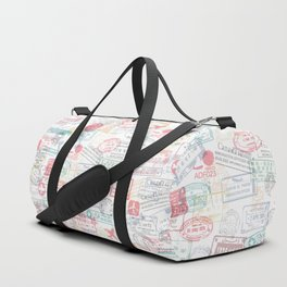 Passport Stamps Duffle Bag