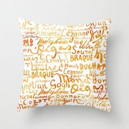 Signatures Orange Throw Pillow