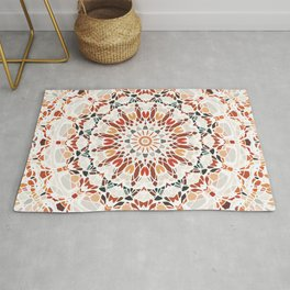 Autumn Colors Mandala Rug