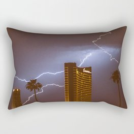 Lightning in Las Vegas Rectangular Pillow