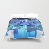 steven universe Duvet Covers featuring steven universe lapis lazuli by Shade-Umbra