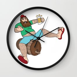 Cheers to That! Wall Clock
