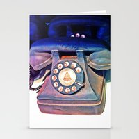 telephone Stationery Cards featuring Telephone by Parastar Arts