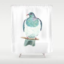 Kereru / Woodpigeon - a native New Zealand bird 2014 Shower Curtain