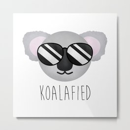 Koalafied Metal Print