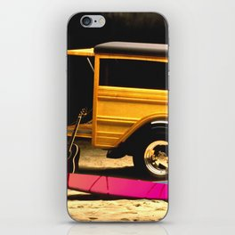 Classic Woody, Surf Boards, and Guitar iPhone Skin