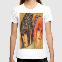 sasuke T-shirts featuring Uchiha Sasuke & Haruno Sakura  by Aileen