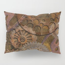 Changing Gear - Steampunk Gears & Cogs Pillow Sham