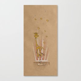 Paddle Ball Giraffe with Rubber Ducks & Bubbles — Air of Imagination Series Canvas Print