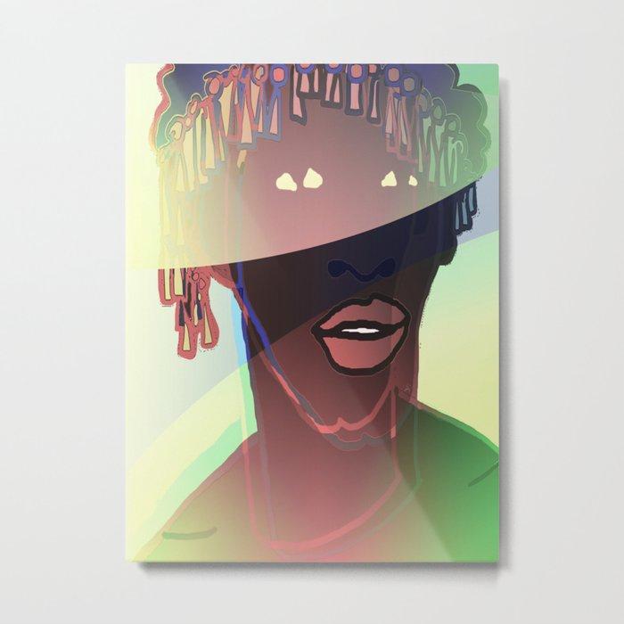 Ebony Coral Headdress Colors Metal Print
