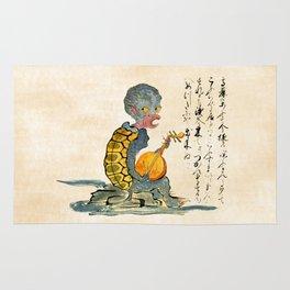 The Kappa - Kaikidan Ektoba Monster Scroll Rug