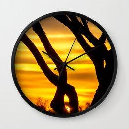 Tree Sunrise Wall Clock