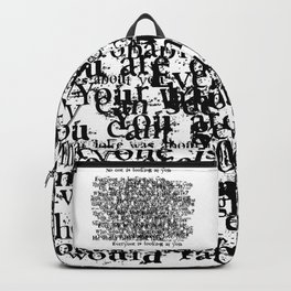 Psychosis Speech 3 Backpack