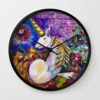 unicorn Wall Clocks featuring Unicorn by CrismanArt