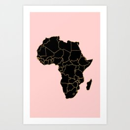 Map Of Africa Art.Africa Map Art Prints Society6