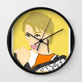 Knock Knock! Jungyeon Yellow Wall Clock