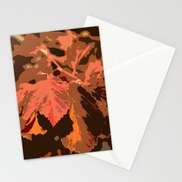 Abstract Fall Leaves Stationery Cards