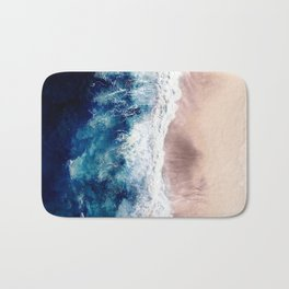 Ocean Wave on Sandy Beach Bath Mat