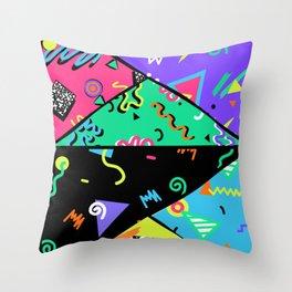 90s Rad Pattern Throw Pillow