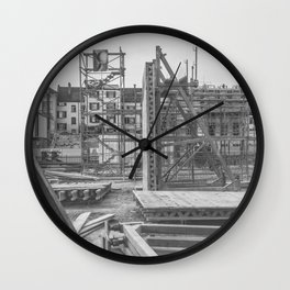 Construction site in the city Wall Clock
