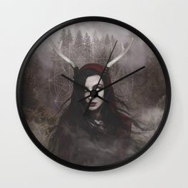Black Witch Wall Clock