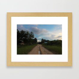 Beauty of a Mud Road Framed Art Print