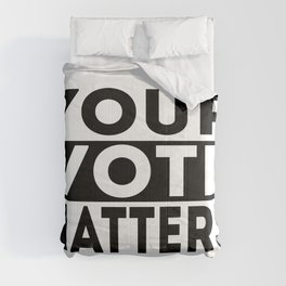 Your Vote Matters American Presidential Election Comforters