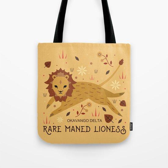 Rare Maned Lioness Tote Bag