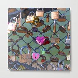 Love lock bridge Metal Print