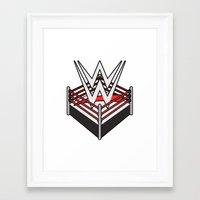 wwe Framed Art Prints featuring WWE Ring Logo by CmOrigins