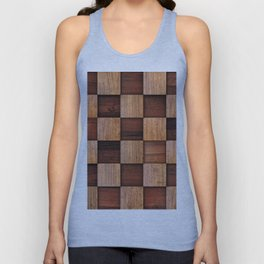 Wooden squares Unisex Tank Top