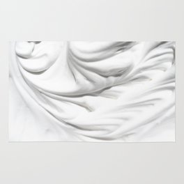 Wavy white cream background Rug