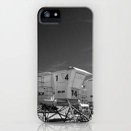 BEACH - California Beach Towers - Monochrome iPhone Case