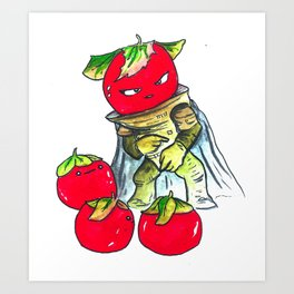 Tales from the Tomato Warrior Art Print