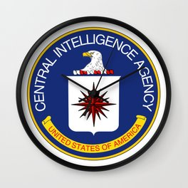 CIA seal Central Intelligence Agency Wall Clock