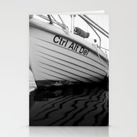 boat Stationery Cards featuring boat by habish