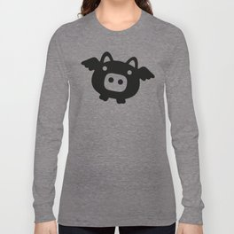 Pigs Will Fly (b&w) Long Sleeve T-shirt