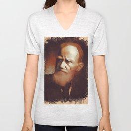 George Bernard Shaw, Playwright Unisex V-Neck