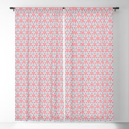 Arrows Pattern - Pink and light blue Blackout Curtain