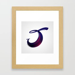 The Letter J Framed Art Print